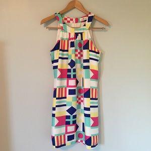 Nautical Flags Silk Dress